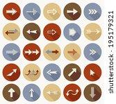 set of flat arrows.