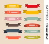 retro ribbons  labels  tags set ... | Shutterstock .eps vector #195182141