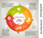healthy lifestyle icons over... | Shutterstock .eps vector #195182699
