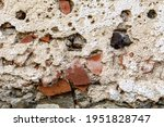 Old Damaged Dirty Wall With...