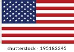 usa flag  stripes and stars | Shutterstock .eps vector #195183245