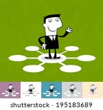 social network. business... | Shutterstock .eps vector #195183689