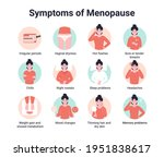 set icons symptoms of menopause.... | Shutterstock .eps vector #1951838617
