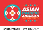 asian pacific american heritage ... | Shutterstock .eps vector #1951838974