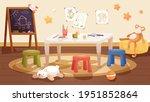 kindergarten interior design... | Shutterstock .eps vector #1951852864