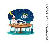 vector illustration of a muslim ...   Shutterstock .eps vector #1951853221