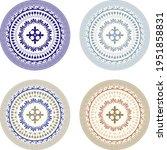 classic circular ornnament in...   Shutterstock .eps vector #1951858831