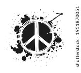 Sketchy Peace Label With Ink Or ...