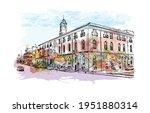 building view with landmark of... | Shutterstock .eps vector #1951880314