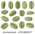 set of green coffee beans from... | Shutterstock . vector #1951882057