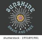 sunshine brave and free... | Shutterstock .eps vector #1951891981