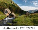 High Mountainous Pure River...
