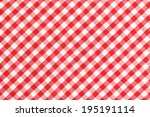 Red And White Checkered Table...