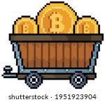 Pixel Art Bitcoin Ore Cart ...