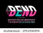 bending 3d style font design ... | Shutterstock .eps vector #1951930594