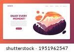 travel promo website template... | Shutterstock .eps vector #1951962547