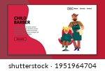 child barber making boy stylish ... | Shutterstock .eps vector #1951964704
