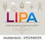 lipa mean  long island power...   Shutterstock .eps vector #1951968154