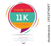 creative thank you  11k  11000  ...   Shutterstock .eps vector #1951974097