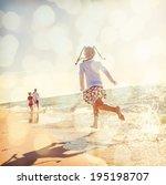 Kids Running At The Beach ...