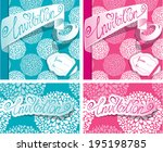 set of greeting cards with... | Shutterstock .eps vector #195198785