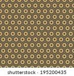 art deco hexagonal seamless... | Shutterstock .eps vector #195200435