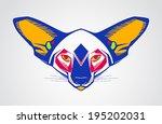 creative color illustration of... | Shutterstock .eps vector #195202031