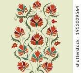 suzani or suzane   uzbek...   Shutterstock .eps vector #1952029564