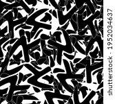 seamless monochrome pattern of... | Shutterstock .eps vector #1952034637