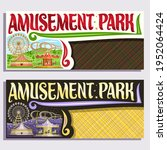 tickets for amusement park with ... | Shutterstock . vector #1952064424
