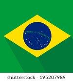flat design brazil flag | Shutterstock .eps vector #195207989