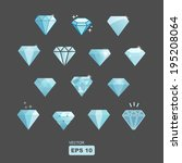 vector diamond set | Shutterstock .eps vector #195208064
