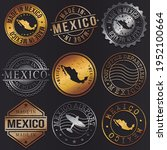 mexico business metal stamps.... | Shutterstock .eps vector #1952100664
