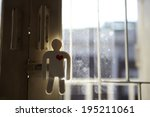 the image of paper man with... | Shutterstock . vector #195211061