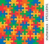 autism awareness day. jigsaw...   Shutterstock .eps vector #1952118541