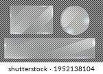 glass plate on transparent... | Shutterstock .eps vector #1952138104