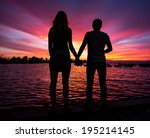 little and big couple  and the... | Shutterstock . vector #195214145