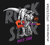 vector illustration of guitar...   Shutterstock .eps vector #1952152564