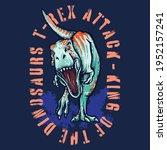 vector illustration of dinosaur....   Shutterstock .eps vector #1952157241
