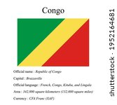 congo national flag  country's...   Shutterstock .eps vector #1952164681