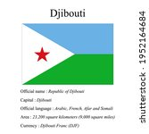 djibouti national flag  country'...   Shutterstock .eps vector #1952164684