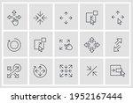 set of scaling arrow icon....