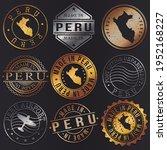 peru business metal stamps.... | Shutterstock .eps vector #1952168227