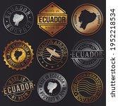 ecuador business metal stamps.... | Shutterstock .eps vector #1952218534
