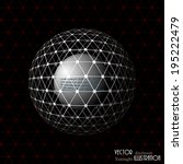 vector ball of the triangular... | Shutterstock .eps vector #195222479