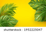 bright yellow summer background ... | Shutterstock .eps vector #1952225047