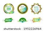 set of vector labels. bio... | Shutterstock .eps vector #1952226964
