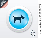 dog sign icon. pets symbol....