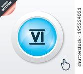 roman numeral six sign icon....