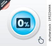 zero percent sign icon. zero...